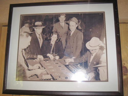 Vintage Casino Picture Las Vegas Framed Faro Gambling Old Photo Original Nevada