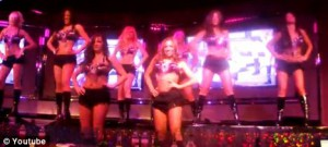 scantily clad casino waitresses