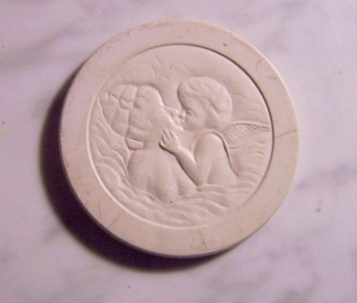 antique clay poker chip