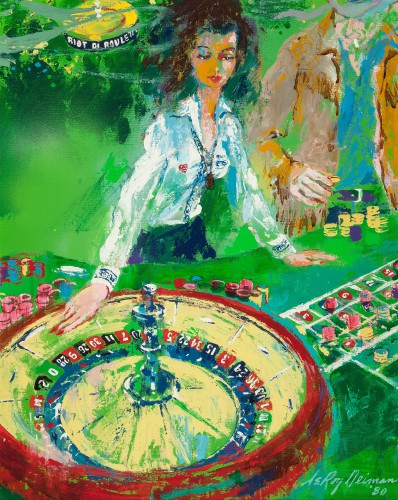 Roulette Dealer Girls of Caesars Palace painting