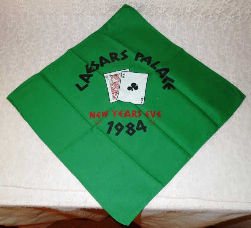 CAESARS PALACE 1984 New Years Eve retro casino gambling napkin