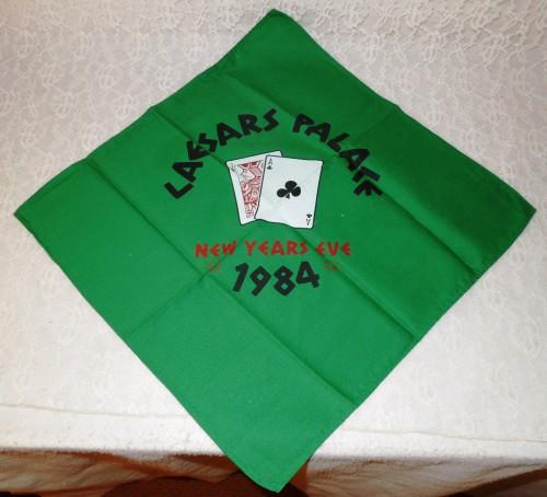 CAESARS PALACE 1984 New Years Eve retro casino gambling napkin