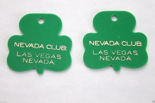 vintage vegas shamrock keyrings earrings